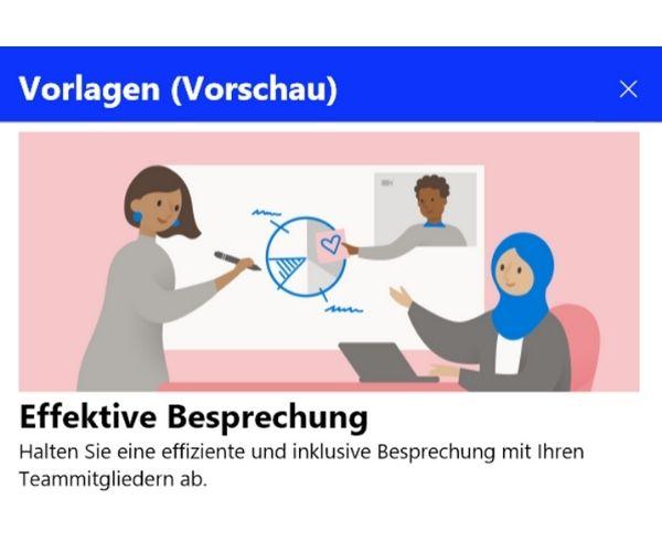 Microsoft Whiteboard Besprechungen
